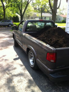 Hauling Compost in the old truck