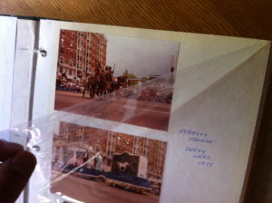 Several older photo albums have static pages that peel from the pages to access the photos.