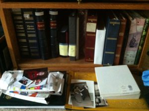 Our family's bookcase of old photos