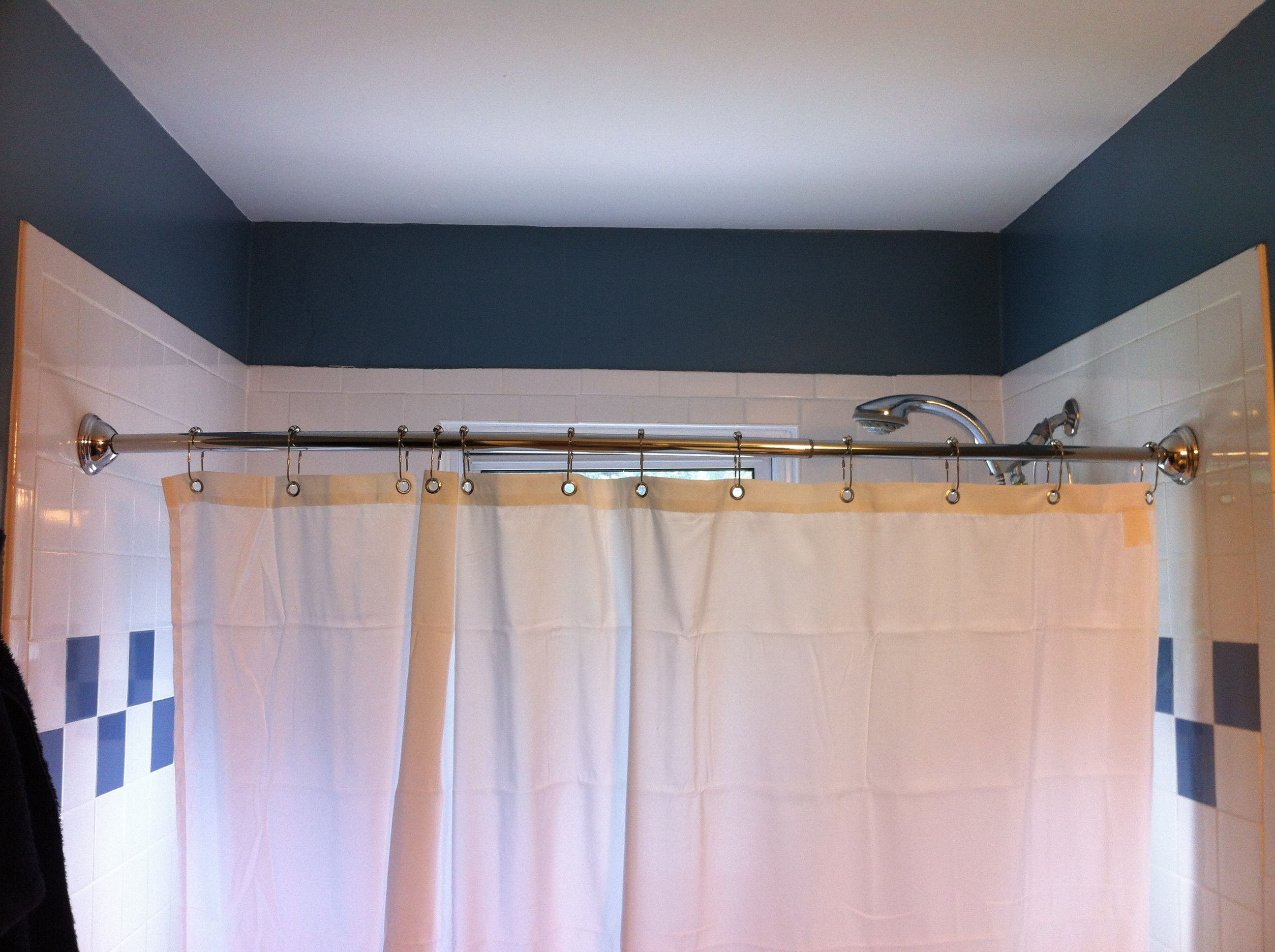 Installing A Curved Shower Curtain Rod Dave Gates