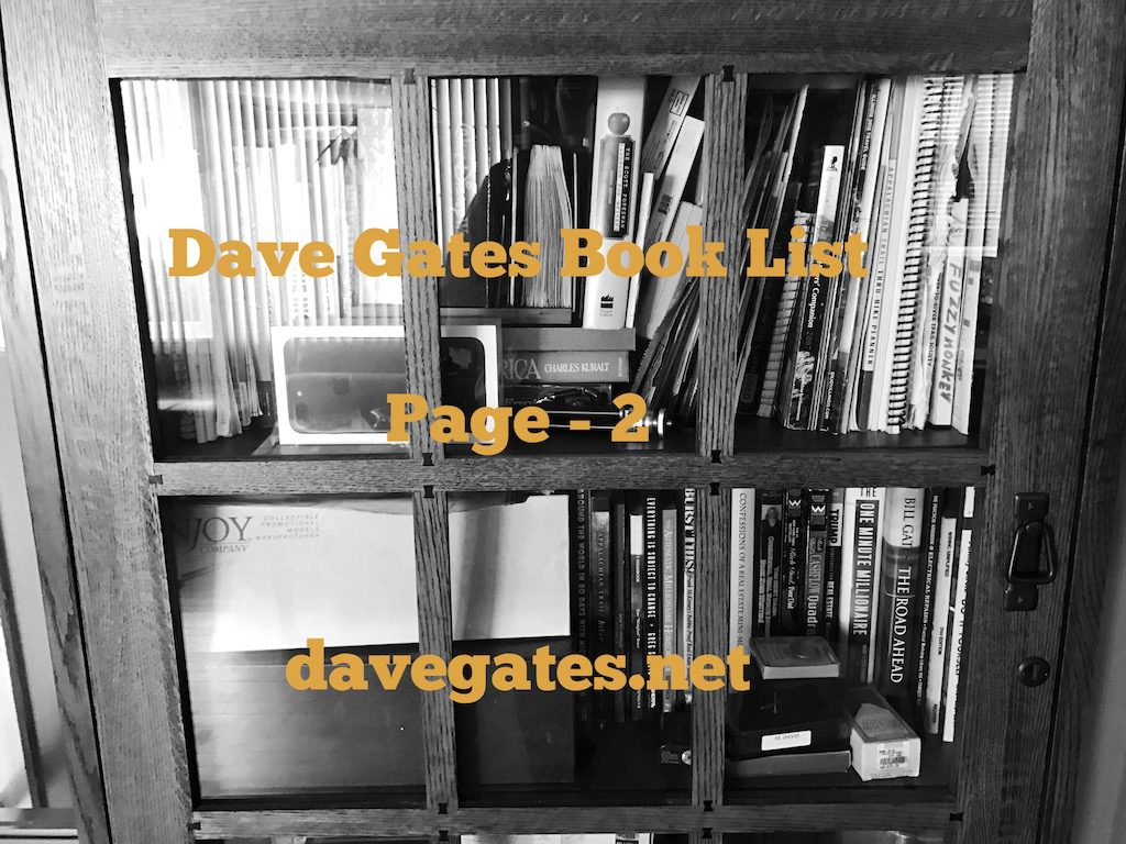 Dave Gates Book List Page 2