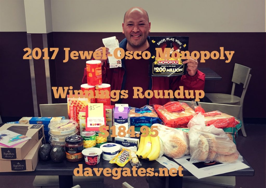 2017 Jewel-Osco Winnings