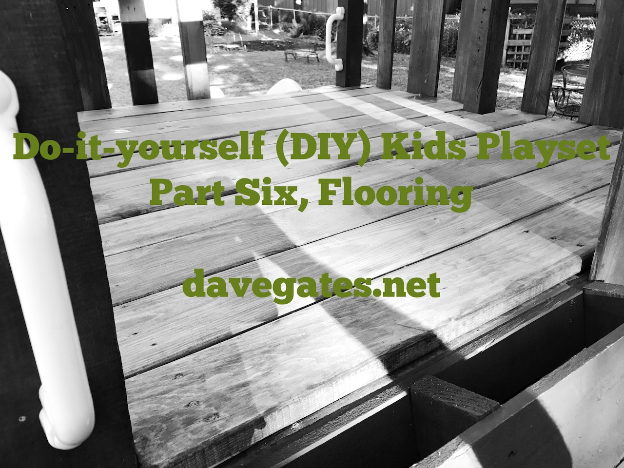 Do-it-yourself (DIY) Kids Playset – Part Six, Flooring