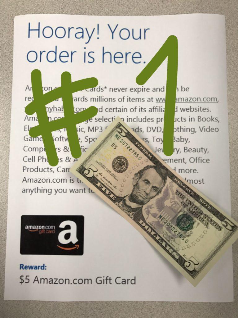 Microsoft Reward Amazon Gift Card