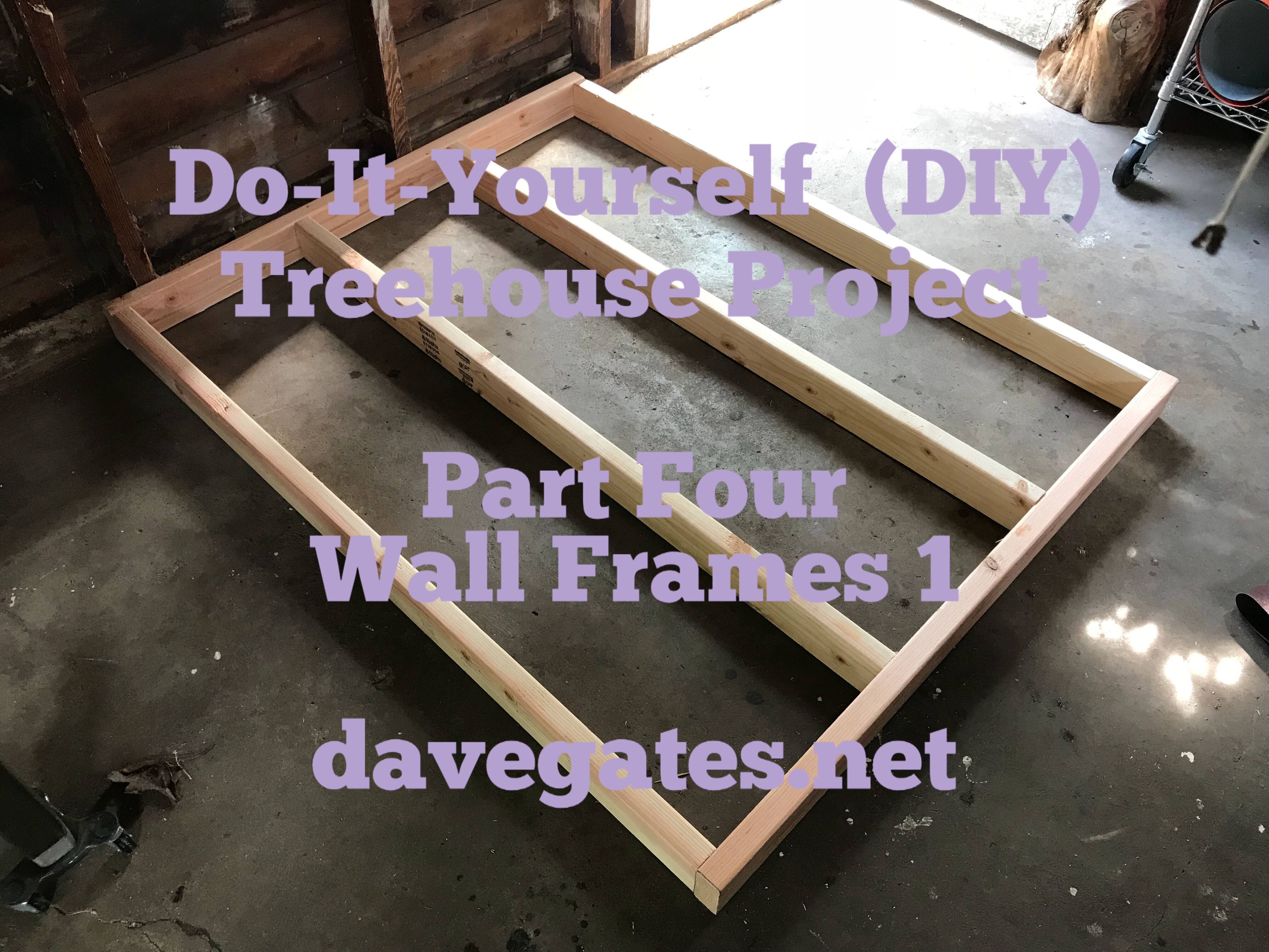 Do-It-Yourself (DIY) – Tree house Project – Part Four – Wall Frames ...