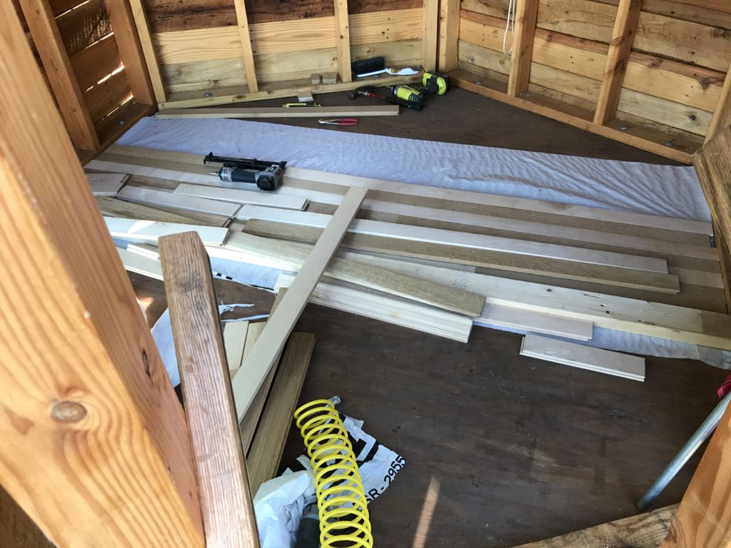Do-It-Yourself (DIY) Tree House Project - Part 13 Hardwood Floors